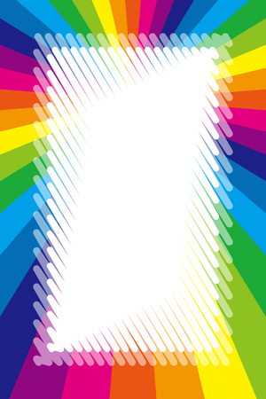 Free background wallpaper, rainbow, copy space, radiation, centralized line, name tag, price tag, colorful illustration, kids, graffiti wind material
