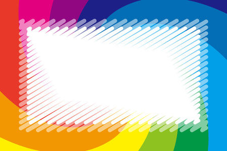 Background wallpaper, rainbow color, copy space, name tag, price tag, colorful illustration, kids, swirl, spiral, spiral Stock Vector - 124885845