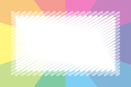 Colorful illustration background material, pastel color, nameplate, price tag, kids, free, radial, centralized line Stock Vector - 124885855