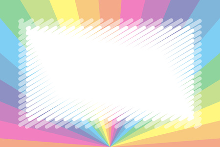 Colorful illustration background material, pastel color, nameplate, price tag, kids, free, radial, centralized line
