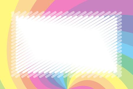 Illustration background material, pastel color, name tag, price tag, kids, soft, uzumaki pattern, spiral Stock Vector - 124885862