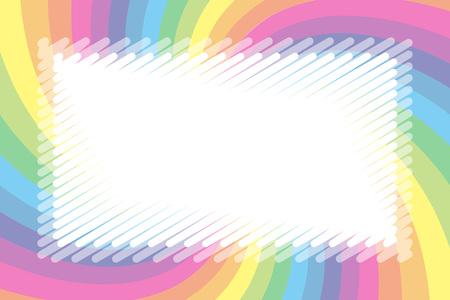Illustration background material, pastel color, name tag, price tag, kids, soft, uzumaki pattern, spiral Illustration