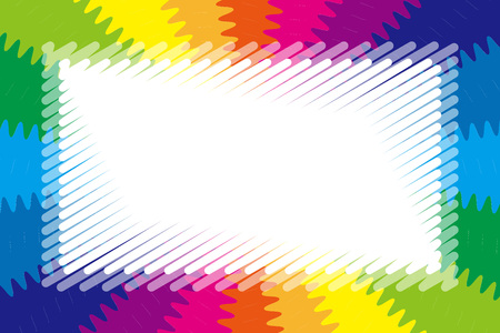 Background wallpaper, rainbow color, radiant, jagged, title space, nameplate, price tag, illustration, free material, Stock Vector - 124885901