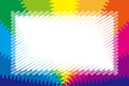 Background wallpaper, rainbow color, radiant, jagged, title space, nameplate, price tag, illustration, free material, Stock Vector - 124885900
