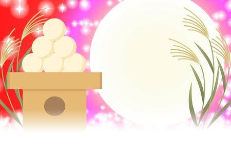 Background wallpaper,illustration,Tsukimi dumplings,Traditional events,Suki,Full moon,Fifteennights,Light,Glitter,Free,Free size Ilustração