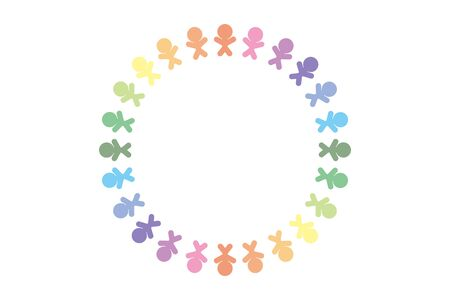 Illustration, Image, Circle of People, Welfare Medical Care, Nursing Care for the Elderly, Day Service for the Elderly, Free, Nursing Home, Senior Generation  イラスト・ベクター素材