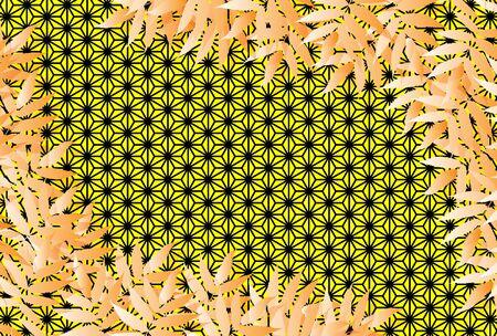 Background wallpaper, hemp leaf, Tanabata festival image, bamboo ornament, bamboo ornament, summer, vector, free size