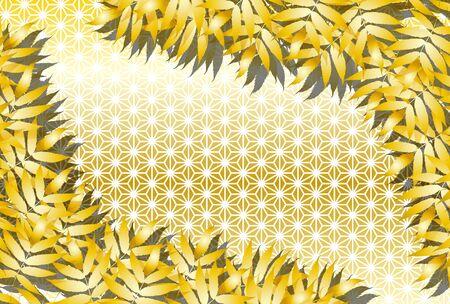 Japanese-style illustration background material, Asaba pattern, Tanabata Festival, Summer, Vector, Free, Free size, Event Advertising Poster Ilustração