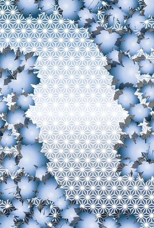 Japanese style background, Japanese traditional pattern, hemp leaf pattern, maple leaf, autumn leaves, autumn leaves image, maple, free material, free size 스톡 콘텐츠 - 130742676