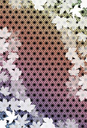 Japanese style background, traditional pattern, hemp pattern, maple, autumn, autumn, deciduous, maple, free material, copy space, advertising poster