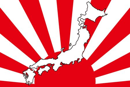 Background Wallpaper,Vector Illustration,Japan Map,Islands,Map,Hinomaru,Japanese Flag,Japan,Free,Free Size