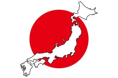 Background Wallpaper,Vector Illustration,Asia Region,Hinomaru,Japan,National Flag,Japan,Free Material,Free Size,Oriental