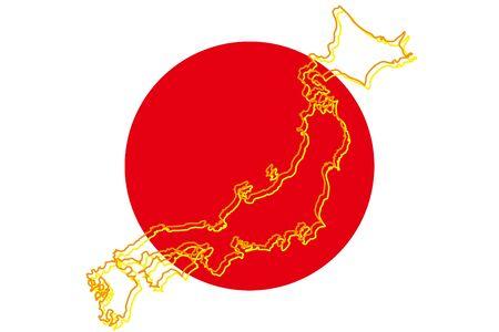 Background Wallpaper,Vector Illustration,Japan Map,Islands,Map,Hinomaru,Japanese Flag,Japan,Free,Free Size