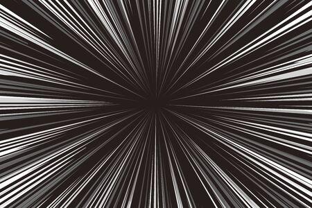 Matériel de fond d'écran d'illustration vectorielle, Effet Manga, Ligne concentrée, Radial, Couleur, Gratuit, Ligne de vitesse, Accélération, Haute vitesse, Rapide