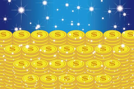 Vector Illustration Background Material, Coin, US Dollar, Money, Investment, One Thousand Money, Making Money, Rich, Money, Image
