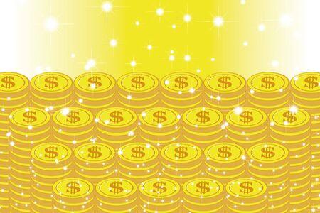 Vector Illustration Background Material, Coin, Exchange Rate, US Dollar, Money, One Thousand Money, Money Making, World Economy, Image Ilustração