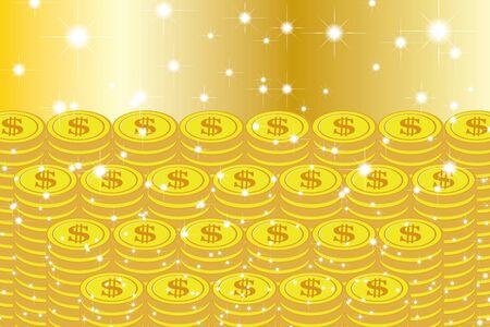 Vector Illustration Background Material, Lottery, Jackpot, One Thousand Gold, Gambling, Treasure, Treasure, Money Luck, Lucky Image Standard-Bild - 129306725