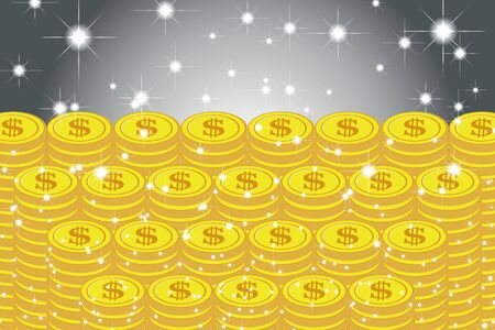 Vector Illustration Background Material, Pile of Coins, US Dollar, Money, Investment, Coins, Making Money, Money, Money Image