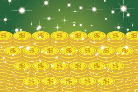 Vector Illustration Background Material, Coin, USD, Money, Investment, Savings, Income, Rewards, Stacking, Finance, Image, $