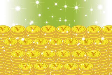 Vector Illustration Background Material, Coin, Exchange Rate, Japan, Yen, Money, 1,000 Money, Making Money, World Economy, Image Ilustração