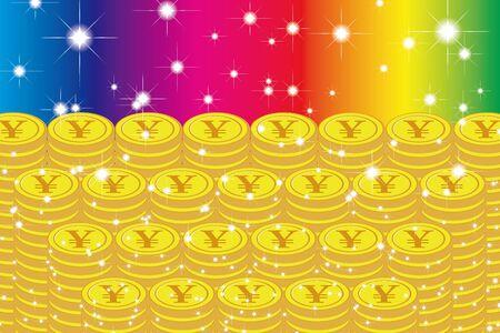 Material de fondo de ilustración vectorial, Lotería, Bote, Mil de oro, Apuestas, Tesoro, Tesoro, Suerte de dinero, Imagen de la suerte Ilustración de vector