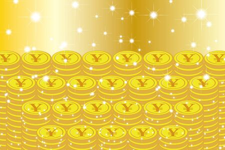 Vector Illustration Background Material, Lottery, Jackpot, One Thousand Gold, Gambling, Treasure, Treasure, Money Luck, Lucky Image Standard-Bild - 129307122