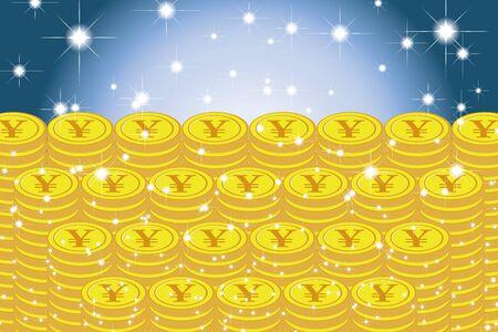 Vector Illustration Background Material, Pile of Coins, Japanese Yen, Money, Investment, Coins, Making Money, Money, Money Image