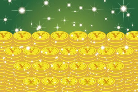 Vector Illustration Background Material, Coin, Japanese Yen, Money, Investment, Savings, Income, Rewards, Stacking, Finance, Image, ¥