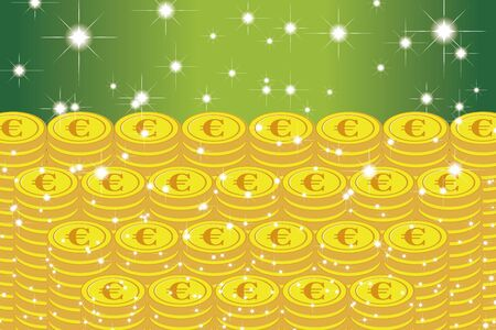 Vector Illustration, Coin, Euro, EU, Money, Europe, Investment, Income, Financial Economy, Image, € Vectores
