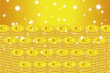 Vector Illustration, Coin, Euro, EU, Money, Europe, Investment, Income, Financial Economy, Image, €