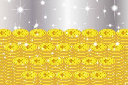 Vector Illustration Background Material, Lottery, Jackpot, One Thousand Gold, Gambling, Treasure, Treasure, Money Luck, Lucky Image Ilustración de vector