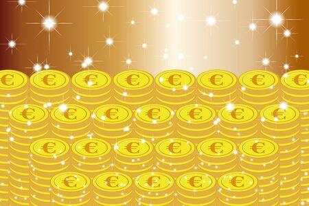 Material de fondo de ilustración vectorial, Lotería, Bote, Mil de oro, Apuestas, Tesoro, Tesoro, Suerte de dinero, Imagen de la suerte