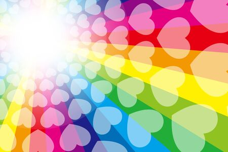 colorful,vector illustration background wallpaper,rainbow color,rainbow color,heart mark,free material,free size,love