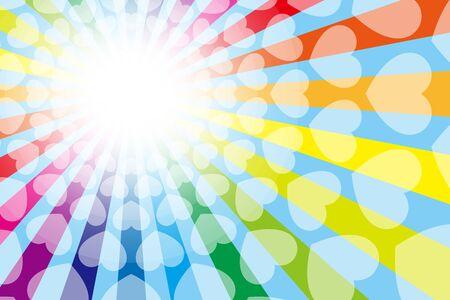 Colorful Vector Illustration Background Wallpaper Material,Rainbow Color,Rainbow Color,Heart Mark,Entertainment, Çizim