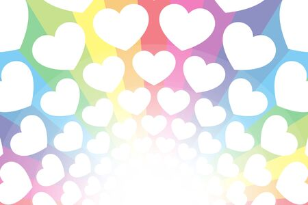 Vector Illustration Background Wallpaper Material,Rainbow Color,Heart Pattern,Show Business Entertainment,Free 写真素材 - 128029356