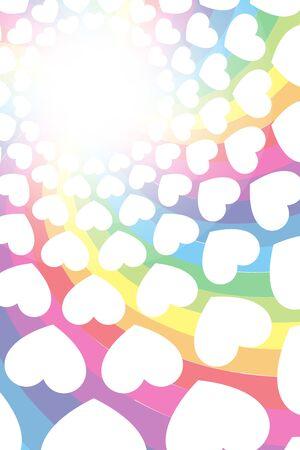 Vector Illustration Background, Rainbow, Heart Pattern, Entertainment, Swirlpattern, Spiral, Love, LOVE, Happiness