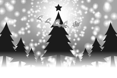vector illustration background material wallpaper,christmas tree,message,winter event,free,fir tree,colorful, Stock Vector - 129307412