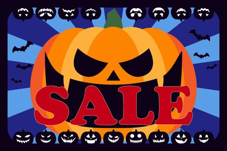 Vector Illustration Wallpaper, Halloween Cosplay Costume Party, Advertising Poster, Free Material,  イラスト・ベクター素材