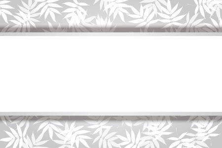 Vector Illustration Background, Summer Image, Wakaba, Wakakusa, Bamboo Leaf, White Space, Free Material, Advertising Poster