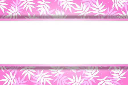 Vector Illustration Background Material, Summer Image, Bamboo Leaf Pattern, Bamboo, Wakaba, Aoba, Copy Space, Free Size