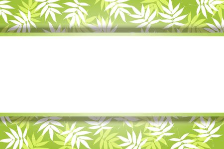 Vector Illustration Background Material, Summer Image, Bamboo Leaf Pattern, Bamboo, Wakaba, Aoba, Copy Space, Free Size 写真素材 - 129545641