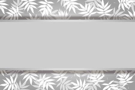 Vector Illustration Background, Summer Image, Wakaba, Aoba, Fresh Green, Bamboo Leaf, Copy Space, Free, Advertising Poster  イラスト・ベクター素材