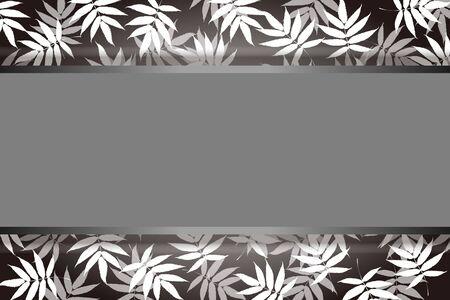 Vector Illustration Background Material, Summer Image, Wakakusa, Aoba, Wakaba, Bamboo Leaf, Copy Space, Free Size