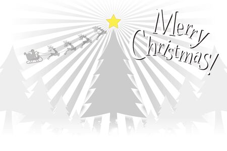 vector illustration, party material, concentrated line, Merry Christmas, tree, wood tree, free, message card