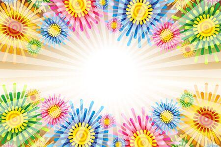 Vector Illustration Background Wallpaper, Colorful, Tropical Resort, Floral Pattern, Pattern, Flower, Summer Event, Free Ilustração