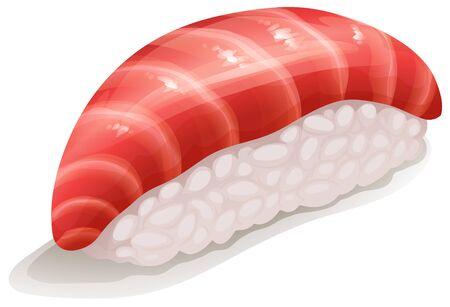 asian lifestyle: Toro Sushi  Tuna with japanese rice