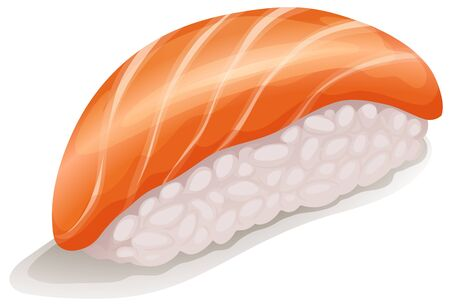 lifestyle dining: Salmon Sushi is Salmon with japanese rice