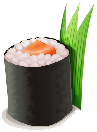 salmon dinner: Salmon Sushi  is Salmon with japanese rice sea weed roll