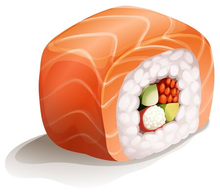 lifestyle dining: Salmon Sushi is Salmon with japanese rice roll