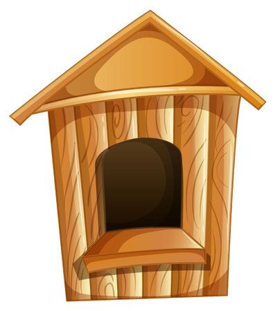 starling: birdhouse gardening object wooden birdbox Illustration